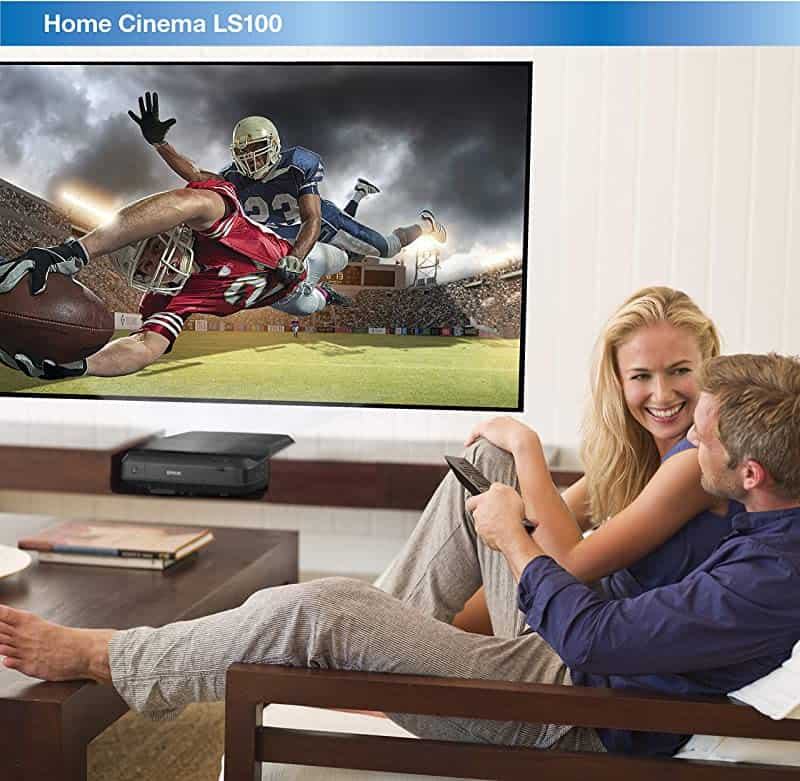 Epson Home Cinema LS100 3LCD Ultra Short-throw Projector, Digital Laser Display with Full HD and 100% Color Brightness